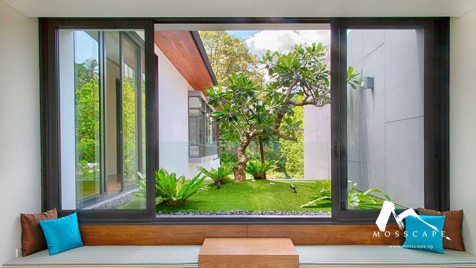 Soothing nature inspired interior design at Bishop Gate property