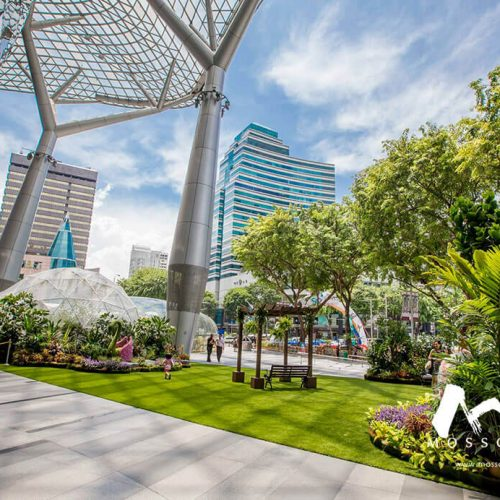 Synthetic turf deployed at Ion Orchard event