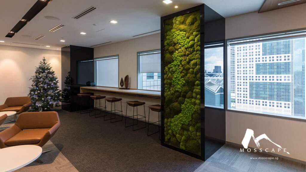 Green wall hides building column